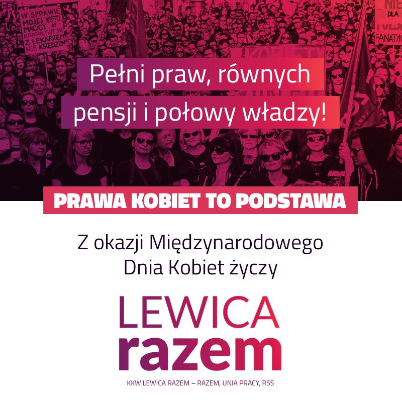 Życzymy Wam i sobie samym, by 8 marca 2020 roku – dzięki ustawie o jawności płac