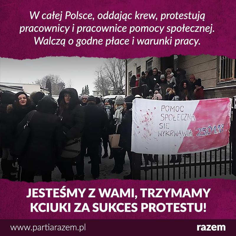 """""""Pomoc społeczna się wykrwawia!"""" - pod takim hasłem protestują dziś w całej Pols"""
