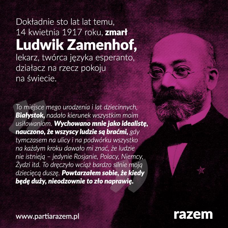 Dokładnie sto lat temu, 14 kwietnia 1917 r. zmarł w Warszawie okulista Ludwik Ła
