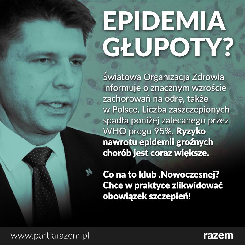 Grozi nam nawrót epidemii groźnych chorób zakaźnych. O wzroście zachorowań na od