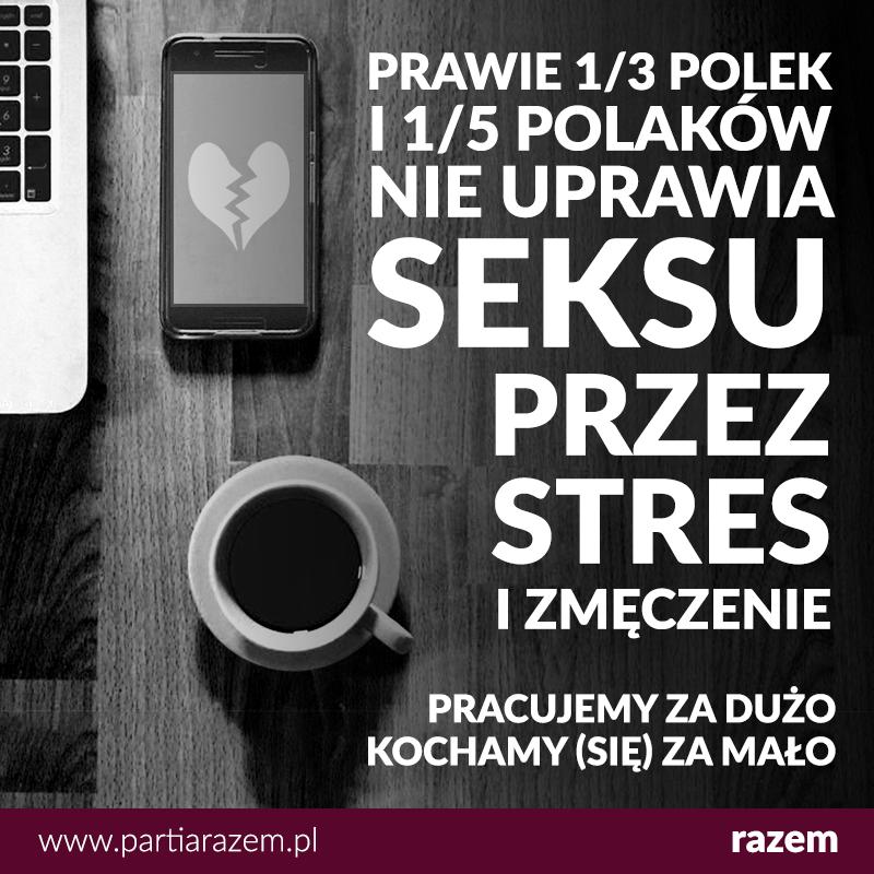 Polki i Polacy uprawiają coraz mniej seksu. Najczęstszy powód? Zmęczenie i stres