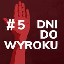 Image may contain: text that says '#5 DNI DO WYROKU'