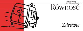 Image may contain: text that says 'Stowarzyszenie im. Tadeusza Regera Równość 土 + Zdrowie'