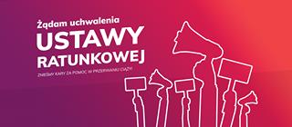 May be an image of text that says 'USTAWY Żądam uchwalenia RATUNKOWEJ CIĄŻY! ZNIEŚMY KARY ZA POMOC w PRZERWANIU'