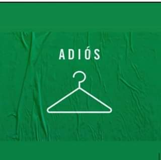 May be an image of outerwear and text that says 'ADIÓS'