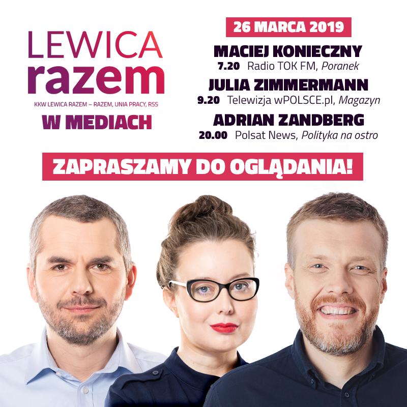 Gdzie można będzie zobaczyć i usłyszeć #LewicaRazem we wtorek? :)