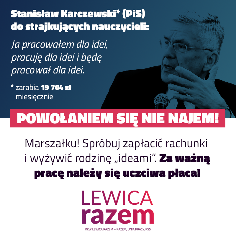 Marszałek Karczewski znowu błysnął. Mówi strajkującym nauczycielkom i nauczyciel