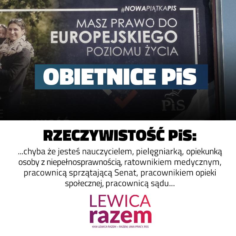 """Prawo i Sprawiedliwość ogłasza w kampanii: """"Masz prawo do europejskiego poziomu"""