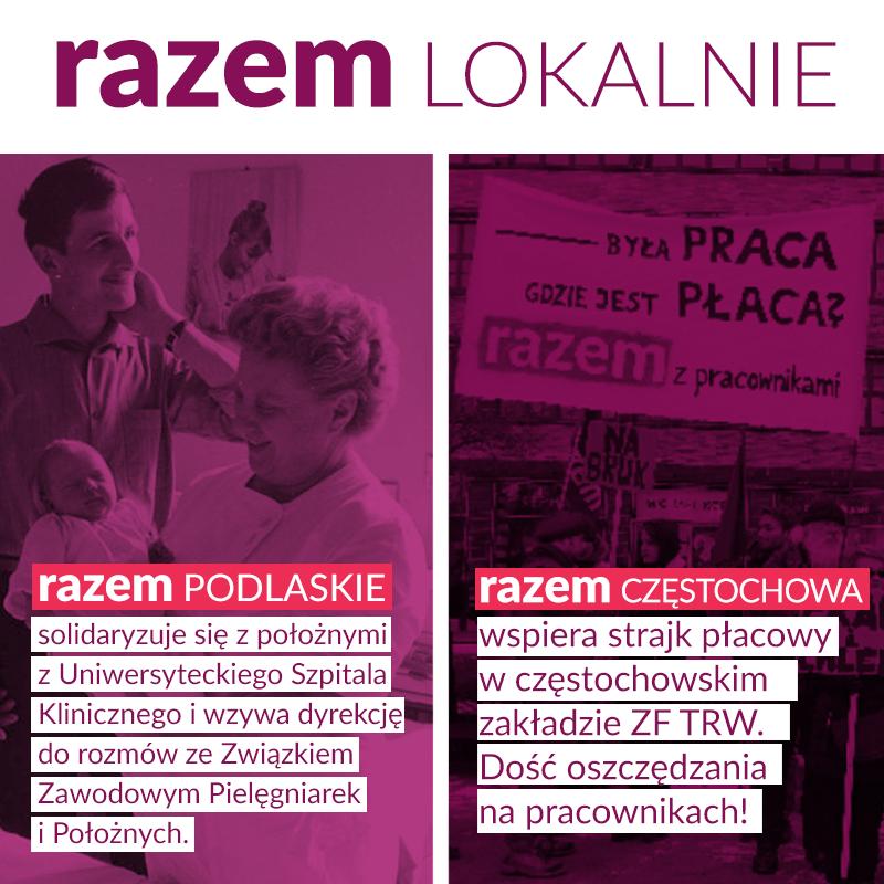Wiadomości z działania Razem w terenie: