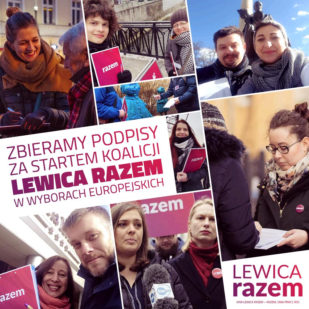 Wiatr, chłód czy burza – zbieramy podpisy za startem koalicji #LewicaRazem (Part