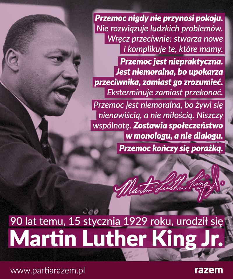 90 lat temu urodził się Martin Luther King Jr., bohaterski lider ruchu praw obyw