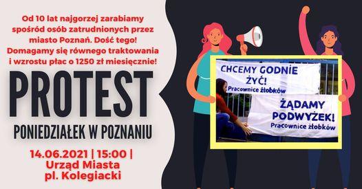 Pracownice poznańskich żłobków protestują!